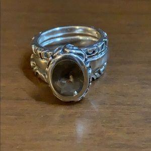 Silpada Smoky Quartz Stackable Ring